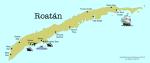 Roatan map